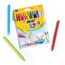 BIC Plastic Crayons Assorted 12pk  medium