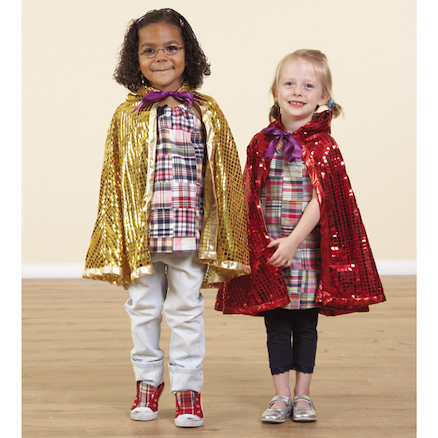 Role Play Dressing Up Glitzy Cloaks 3pcs  large