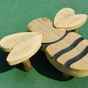 Outdoor Wooden Bee Seat W120 x L100cm  small