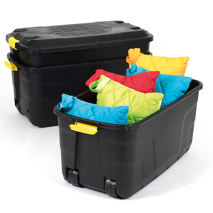 Heavy Duty Storage Boxes on Wheels  large