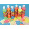 Fluorescent Ready Mixed Paint Assorted 500ml 6pk  small