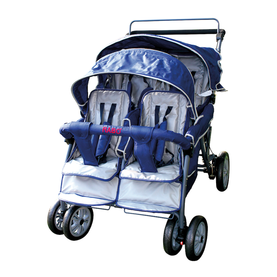 Buy Rabo Baby Bus 4 Seater Commercial Stroller Tts