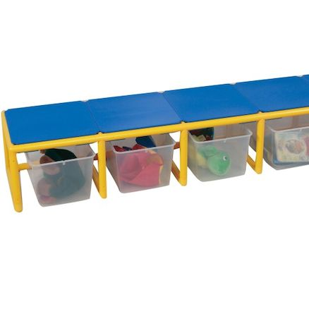 Rainbow Bench and Storage Unit  large