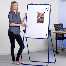 Height Adjustable Drywipe Flipchart Easel  medium