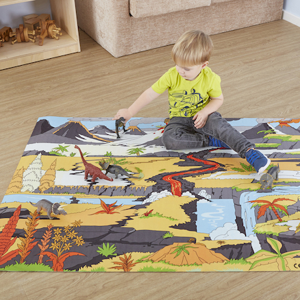 Small World Dinosaur Themed Play Mat  large