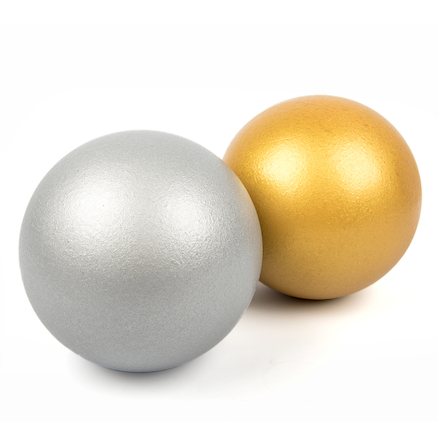 Gold and Silver Coated Foam Balls 6pk  large