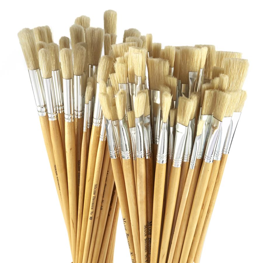Hog Hair Paint Brushes