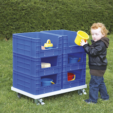 Outdoor Plastic Stackable Storage Crates  medium