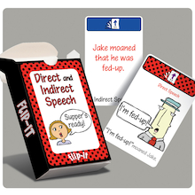 Flip-It Direct and Indirect Speech Activity Cards  medium
