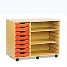 Mobile Shelving and Eight Shallow Tray Unit  medium