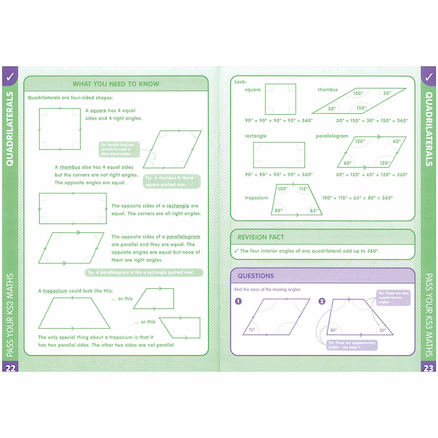 Pass Your KS3 Maths Shape Space And Measures Book  large