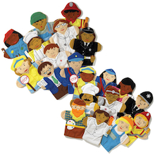 Role Play Career People Hand Puppets 10pcs  medium