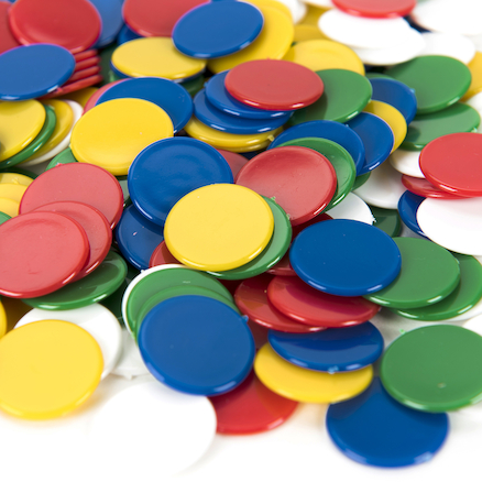 Multicoloured 20mm Plastic Counters  large