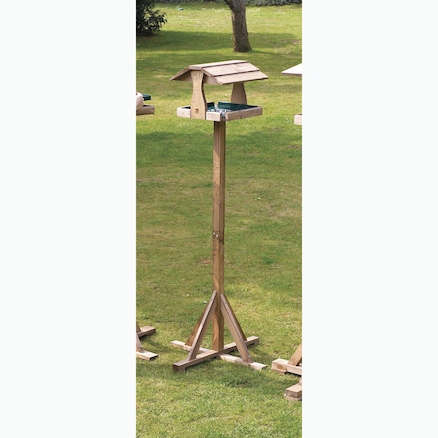 Bird Table with Thatched Roof  large