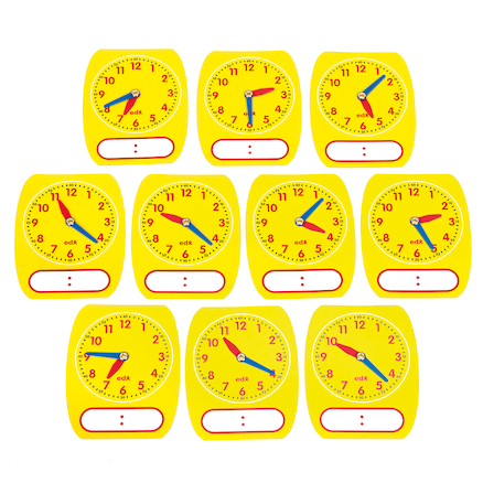 Write on Wipe Off Clock Dial 10pk  large