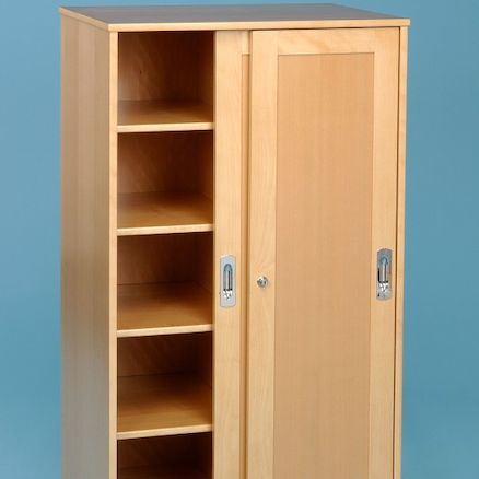 Large Beech Storage Cupboard  large