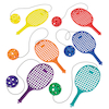 Plastic Playground Bat with Ball on String 6pk  small