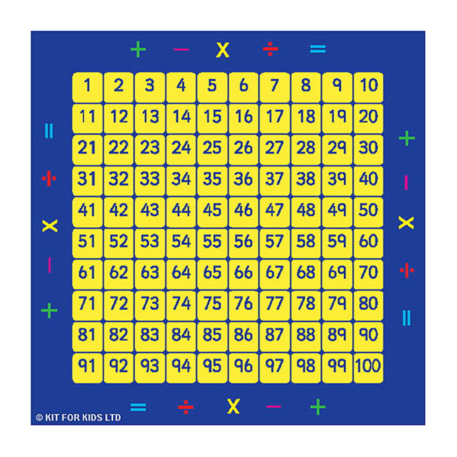 Buy Giant 100 Number Squares Mat 2 X 2m Tts
