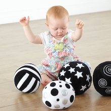Black and White Soft Sensory Activity Balls 4pk  medium