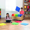 Multicoloured Square Cushions and Trolley 32pk  small