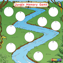 Jungle Walk Auditory Memory Game  medium
