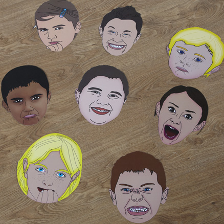 Giant Emotions Masks 8pk  large