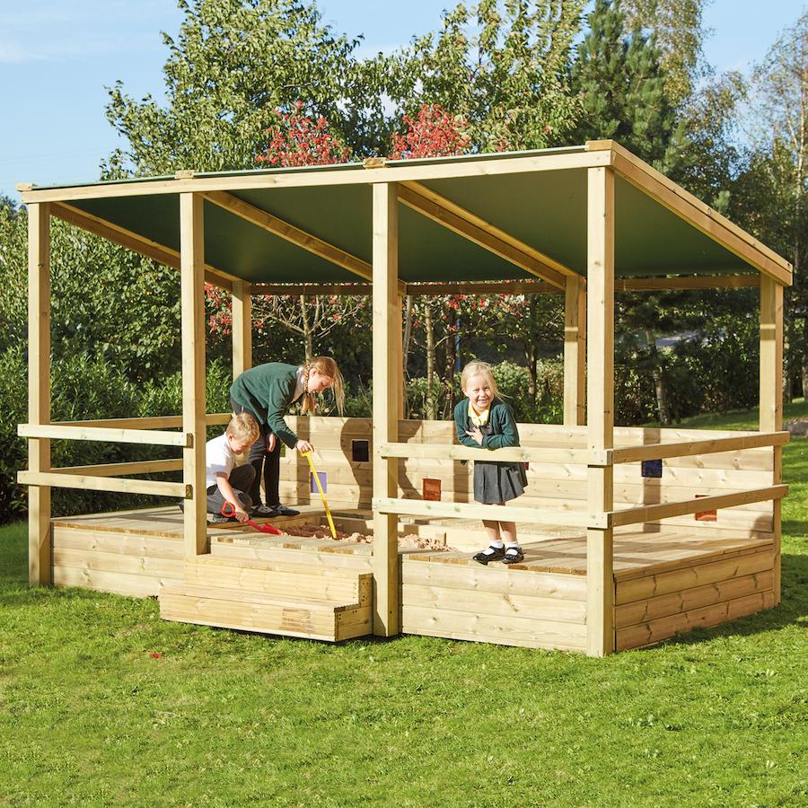 Buy outdoor staging sandpit shelter tts for Small garden shelter