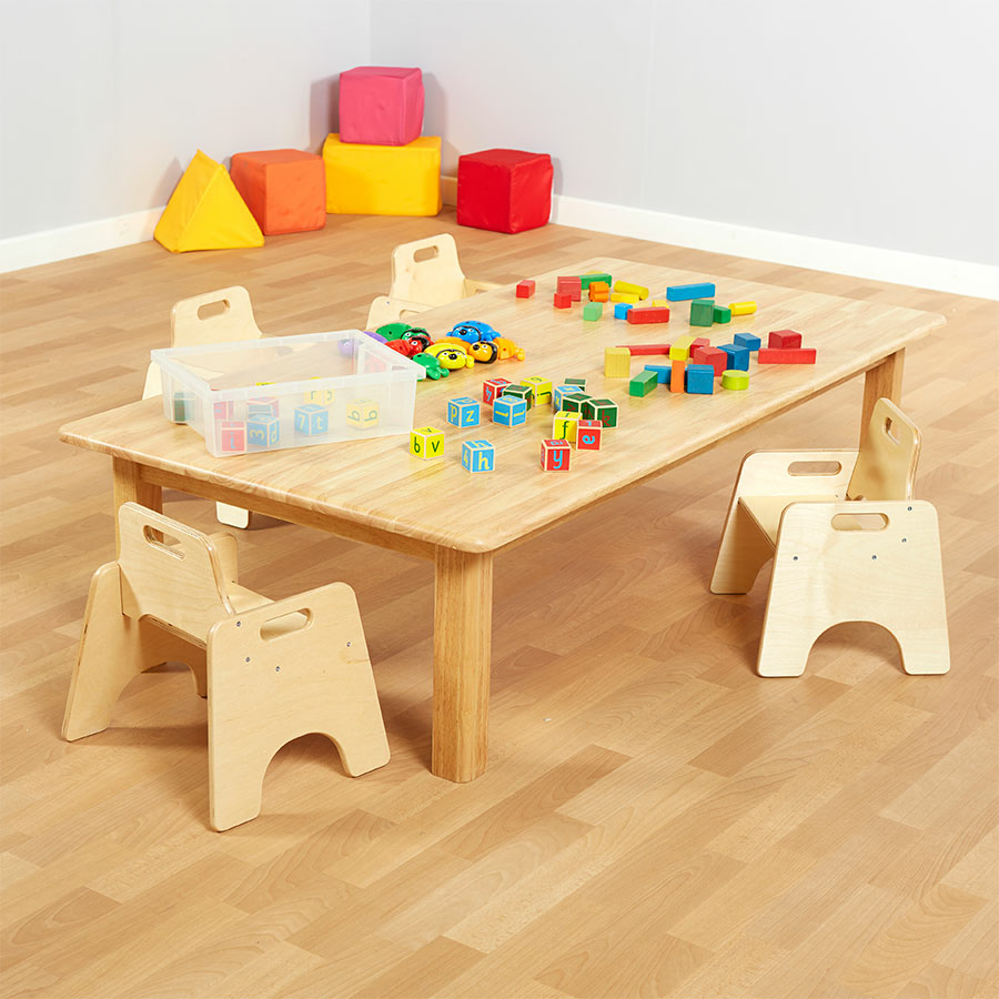 Small Wood Table And Chairs: Buy Large Natural Wooden Table H400mm
