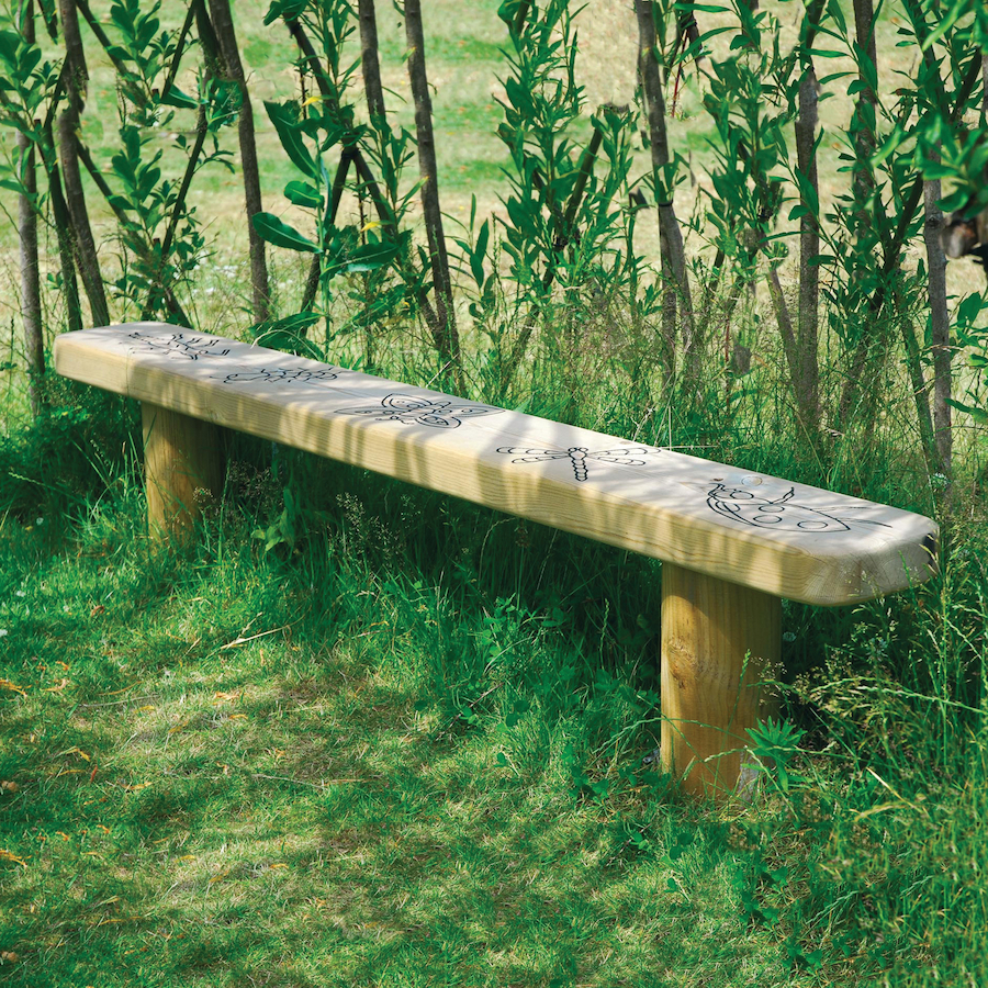 Buy Engraved Outdoor Wooden Bench Tts
