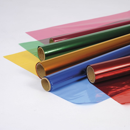 Coloured Cellophane Rolls 5pk  large