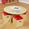 Circular Table With 4 Stools  small