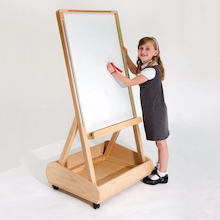 Wooden Magnetic Whiteboard Easels  medium