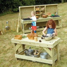 Messy Play Outdoor Wooden Furniture Offer  medium