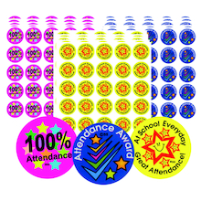 Assorted Attendance Reward Stickers 375pk  medium