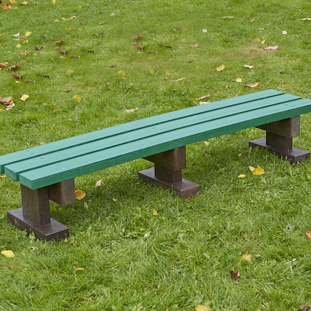 Recycled Plastic Three Seater Bench  large