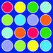 Rainbow Placement Floor Mat Circle  hi\-res