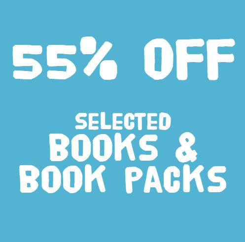 Up to 55% off Books & Book Packs