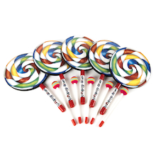 Hand Drums and Beaters Candy Design 5pk  medium