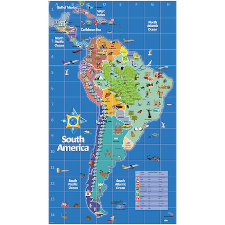 South America Deskmats A2 6pk  large