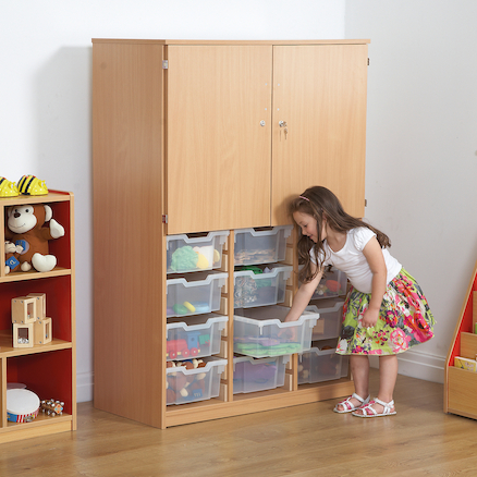 Cupboard With Deep Tray Storage  large