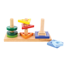 Wooden Manipulative Twist and Turn Puzzle  medium