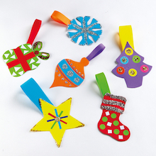 Primary Christmas Tree Hangers Assorted 36pk  medium