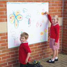 Giant Mark Making Whiteboard Wall 1 x 1.2m  medium