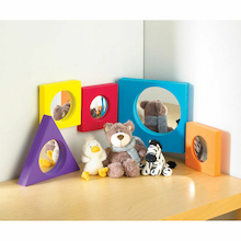 Assorted Colour Frame Mirrors Rainbow 5pk  medium