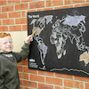 World Map Outdoor Chalkboard H60 x W80cm  small