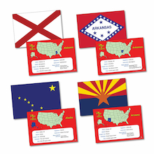 Flags and Facts US States A5 50pk  medium