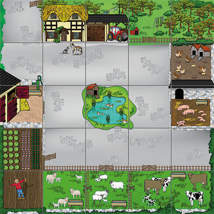 Bee\-Bot\u00ae and Blue\-Bot Farmyard Mat  large
