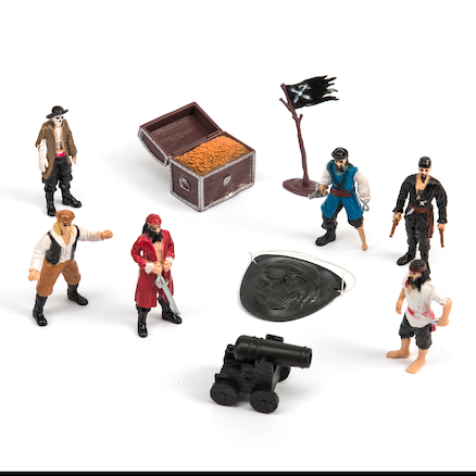 Pirate Small World Figures and Accessories 10pcs  large
