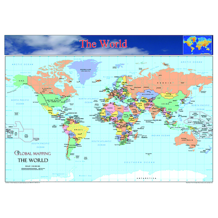 World Europe and UK Maps Set A3  large
