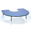 Height Adjustable Horseshoe Classroom Table  small